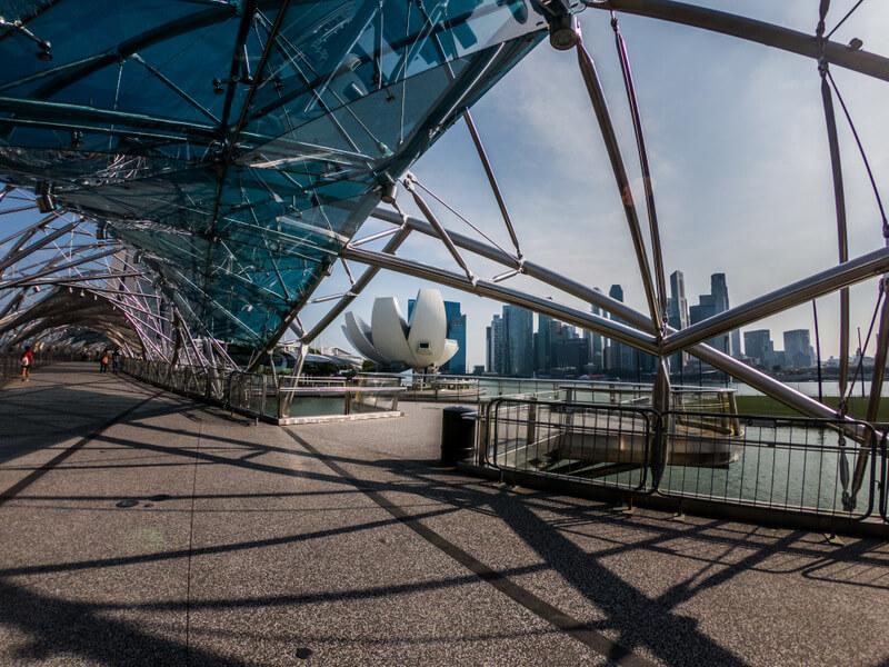Singapore Helix Bridge at the Marina Bay District