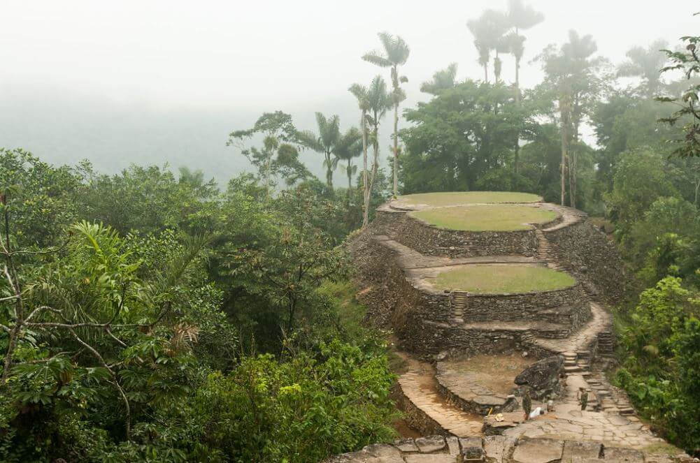 View of the Lost City in Colombia