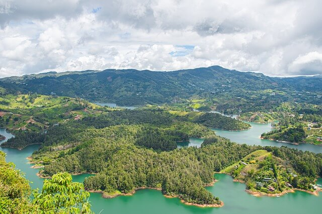 Guatape in Colombia is one of the most popular spots for tourists from all countries