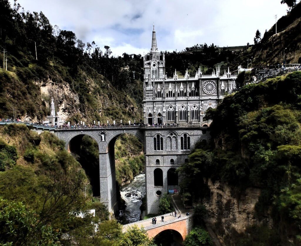 Las Lajas Sancturary in Colombia is a man made wonder