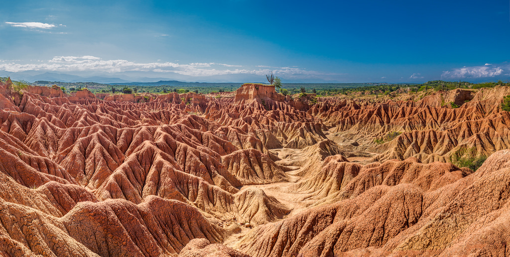 The Tatacoa desert is one of the most alien landscapes in the country. A great place for stargazing and explore on your own