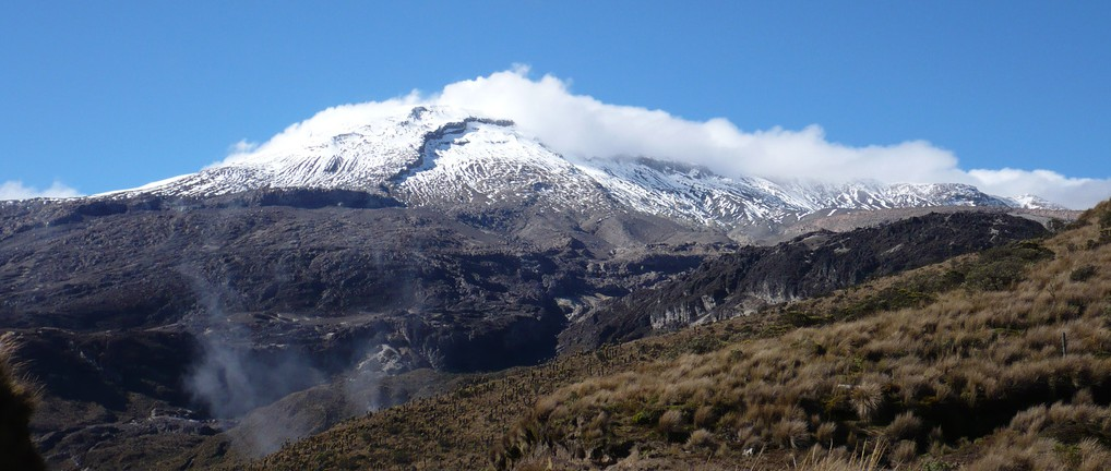 Nevado del Ruiz is Colombia's highest peak.  Colombia is the place where the Andean mountains start and altitudes of 4000 m are common to see.