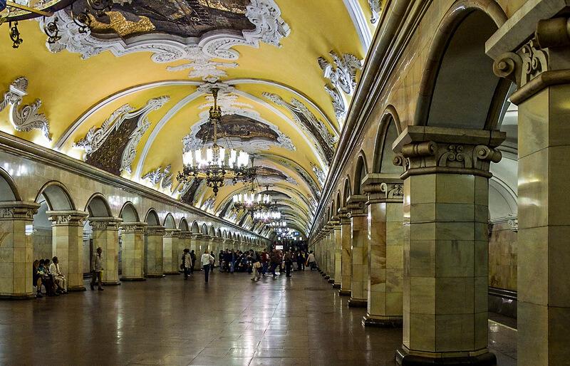 Panorama of Komsomolskaya metro station