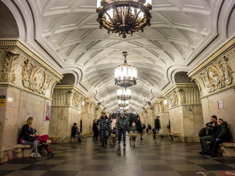 Prospekt Mira metro station in Moscow