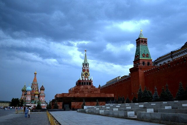 View of Lenin Mausoleum at the Red Square