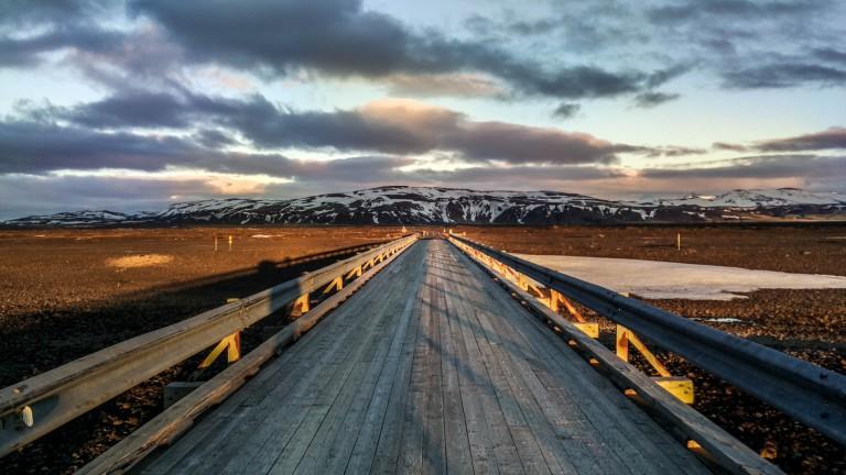 sunset ring road iceland