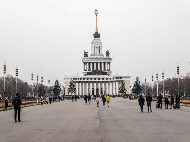 Architecture at Gorki Park in Moscow