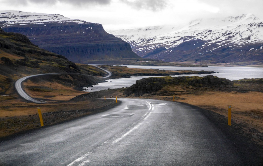 Roads in Iceland are perfect for driving for hours and marvel natural beauty
