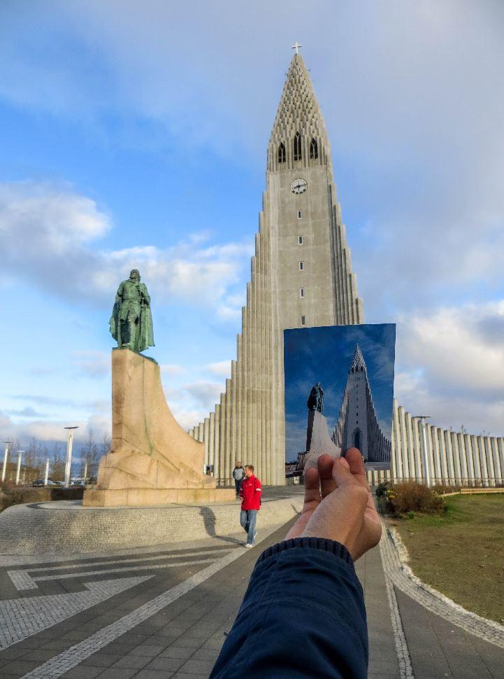 Postcard of Hallgrímskirkja in Reykavic, Iceland's capital