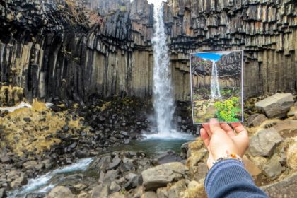 Svartifoss basalt waterfall - roadtrip-iceland