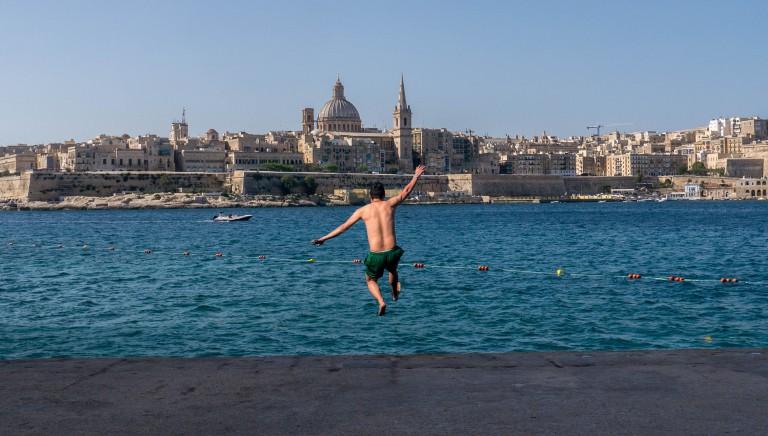 Malta Valletta view in Silema