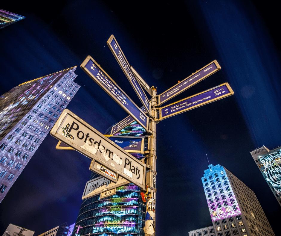Postdamer Platz at night