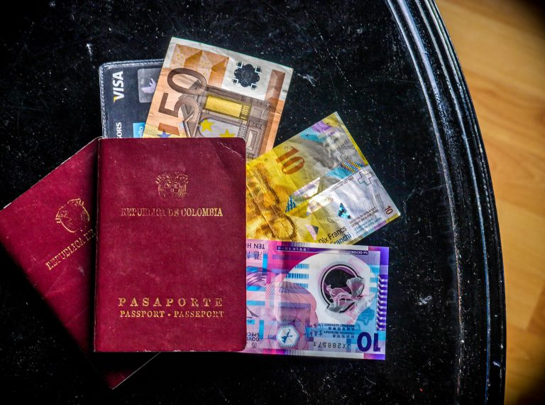 Passport and foreign money