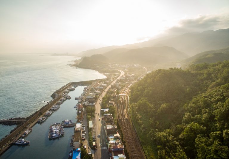 Coastal view of the main road in western Taiwan