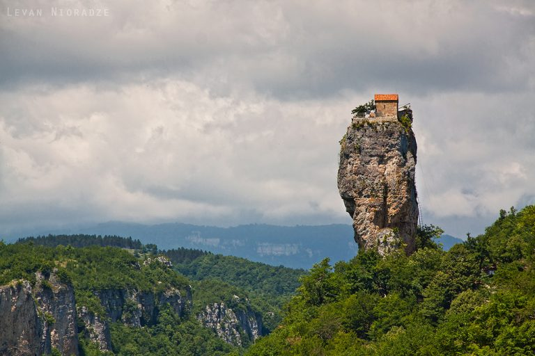 View of the Katskhi Pillar. Source: Levan Nioradze
