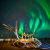 How do professionals photograph the northern lights in Iceland