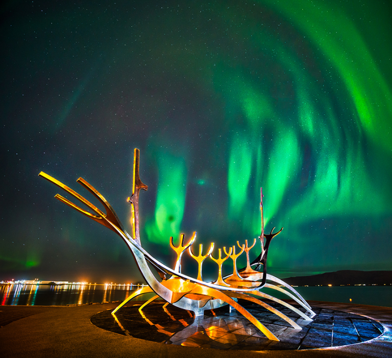 Iceland northern lights in Reykavik - Juan Martinez