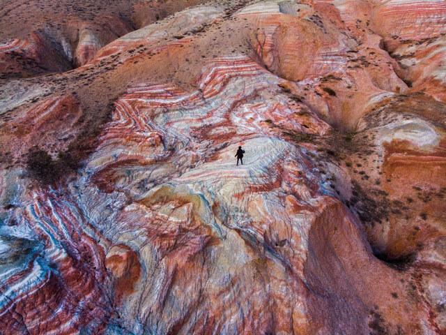 Drone photography in Azerbaijan - Candy Cane mountains