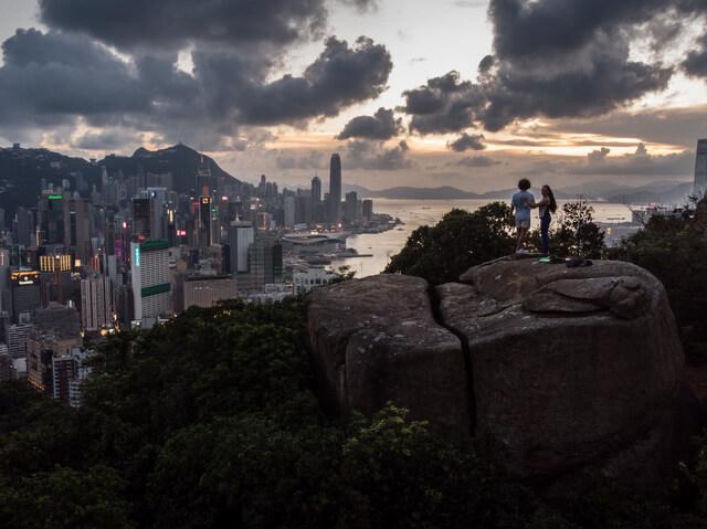 Braemar Hill Peak in Hong Kong Drone photography