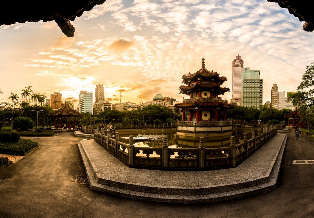 Taipei Park Sunset