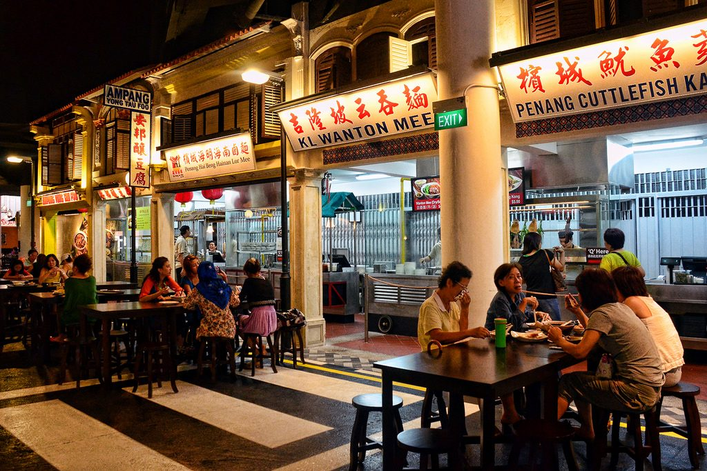 Street food hawkers are all over Kuala Lumpur.