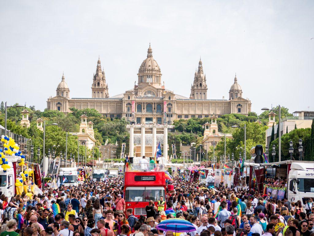 Plaza de Espana- Pride Barcelona 2017