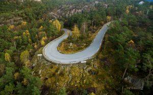 Aerial view in the Stavanger region