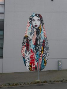 Artist Hush created one of my favourite grafittis in Stavanger - Stavanger street art