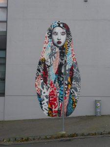 Artist Hush created one of my favourite grafittis in Stavanger - Stavanger street art