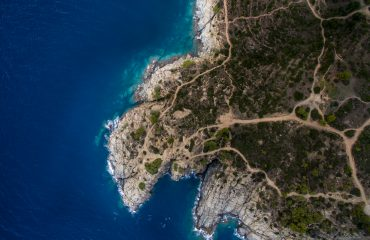 Aerial view of Sunrise at Cap de Creus Natural Park