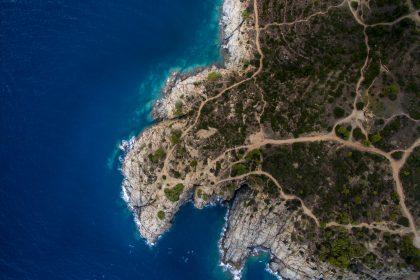 Aerial view of Sunrise at Cap de Creus Natural Park