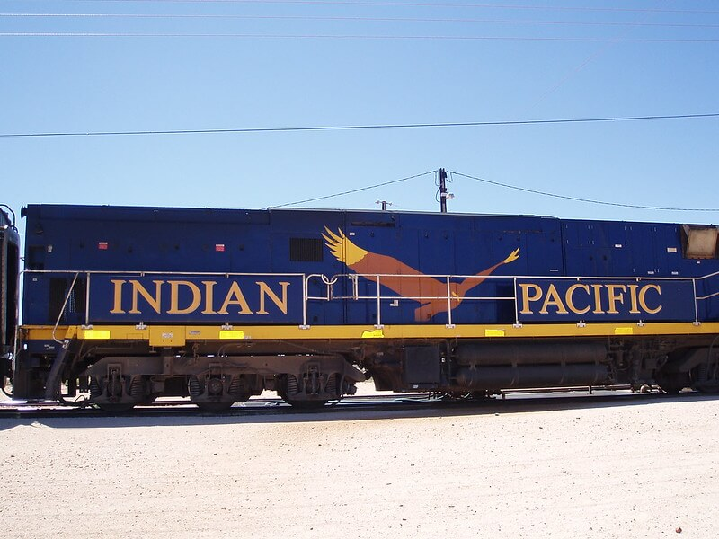 Indian Pacific Rail in Australia