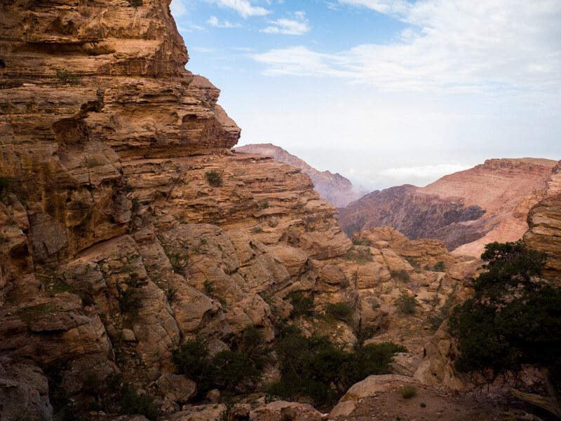 Petra's back entrance trekking route