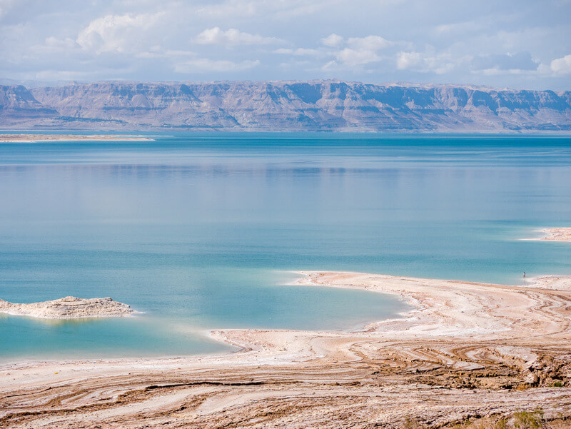View of the Dead Sea from the Jordan side