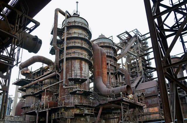 Abandoned structures at the industrial area of Ostrava