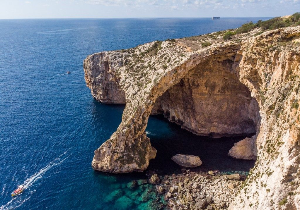 Elephant Rock Malta in Autumm