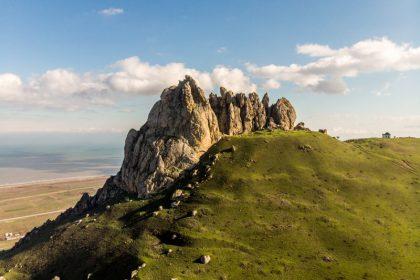 Road Trip in Azerbaijan five finger mountain