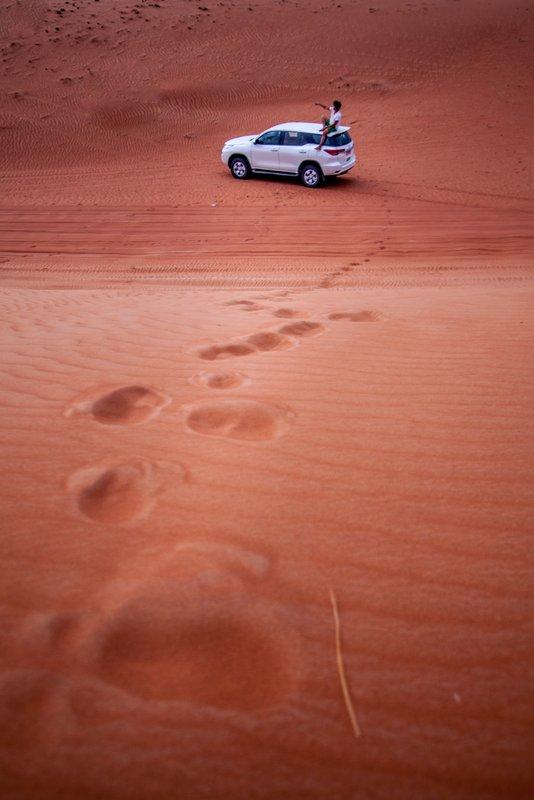 road trip in Oman Sharqiya Sands renting a car desert
