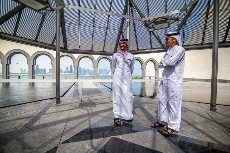 Tips to travel to Qatar. Qatari at the Islamic Museum