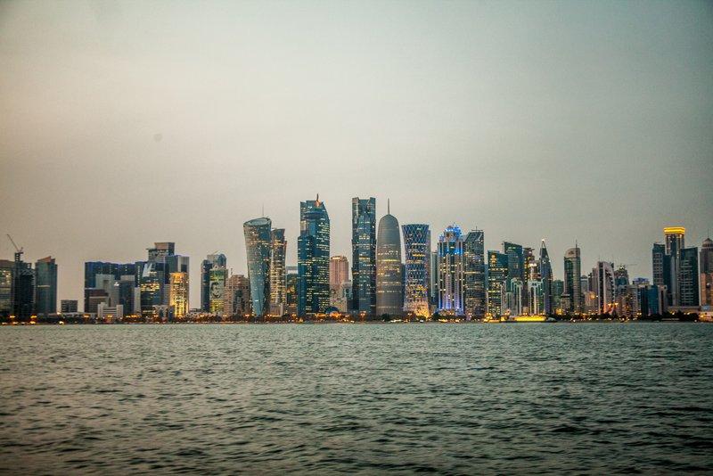 View of Doha's skyline from Corniche
