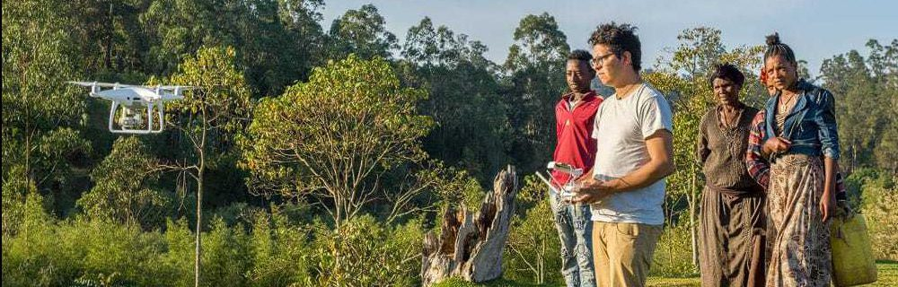 Juan Martinez Travelers Buddy flying drones in Ethiopia