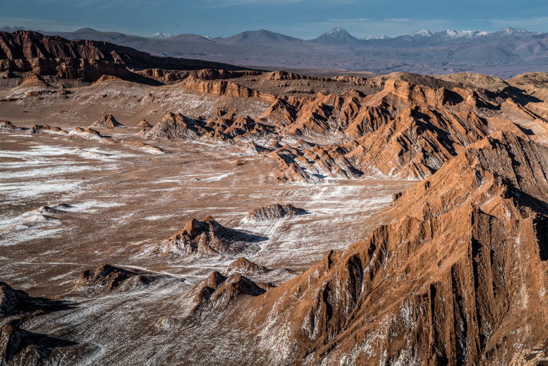 Views of the Moon Valley at the Atacama Desert in Chile