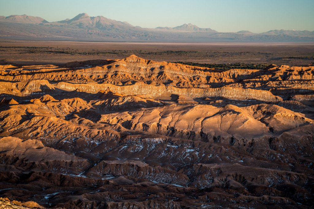 Sunset at the Moon Valley in Atacama