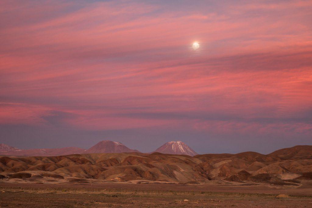 Sunset in Atacama Desert of Chile