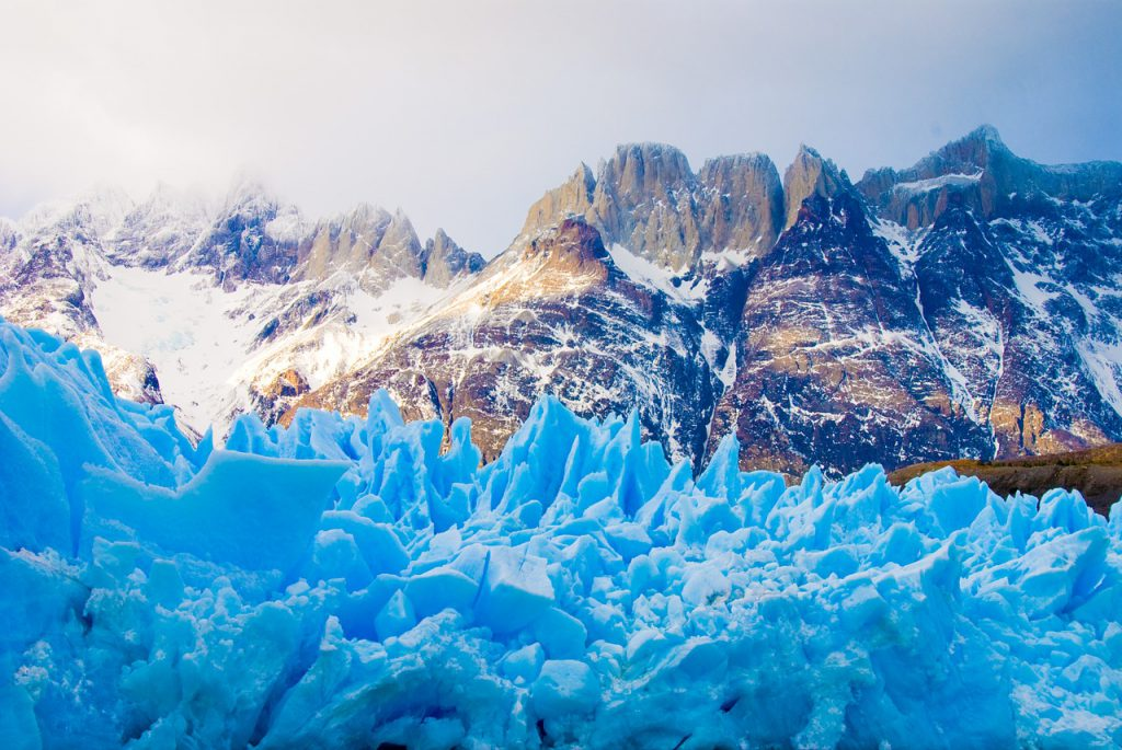 View of the Grey glacier in the west side of the National Park - View of the Grey glacier in the west side of the National Park