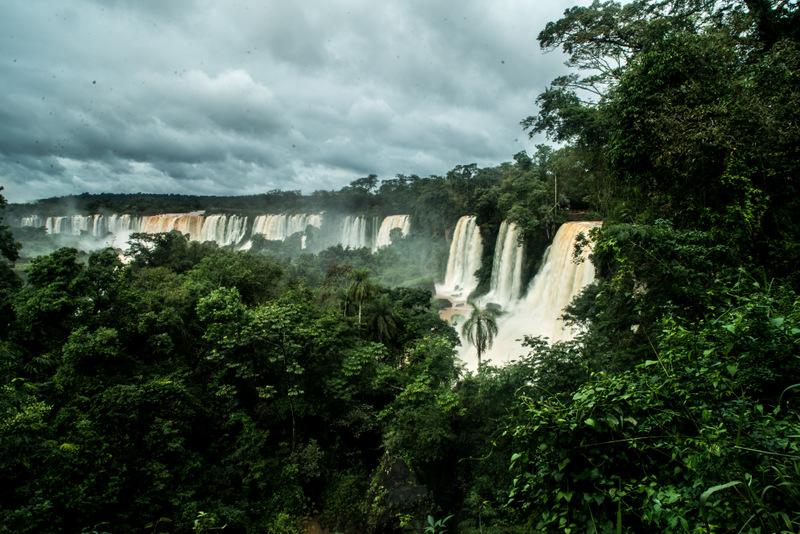 View of the Iguazu Falls from Argentina