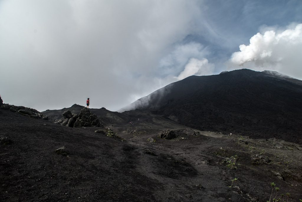 Hiking up to the summit of Pacaya