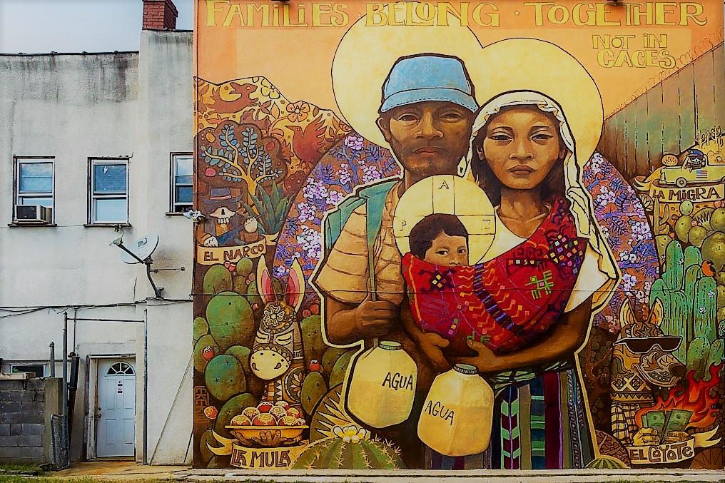 Families-Belong-Together - Families Belong Together is a piece by Chilean artist Ian