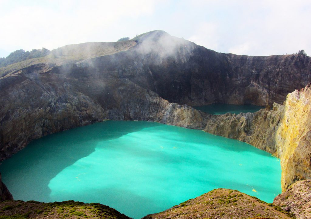 Six places in six countries for travel photography lovers -  View of the Kelimutu crater in Indonesia
