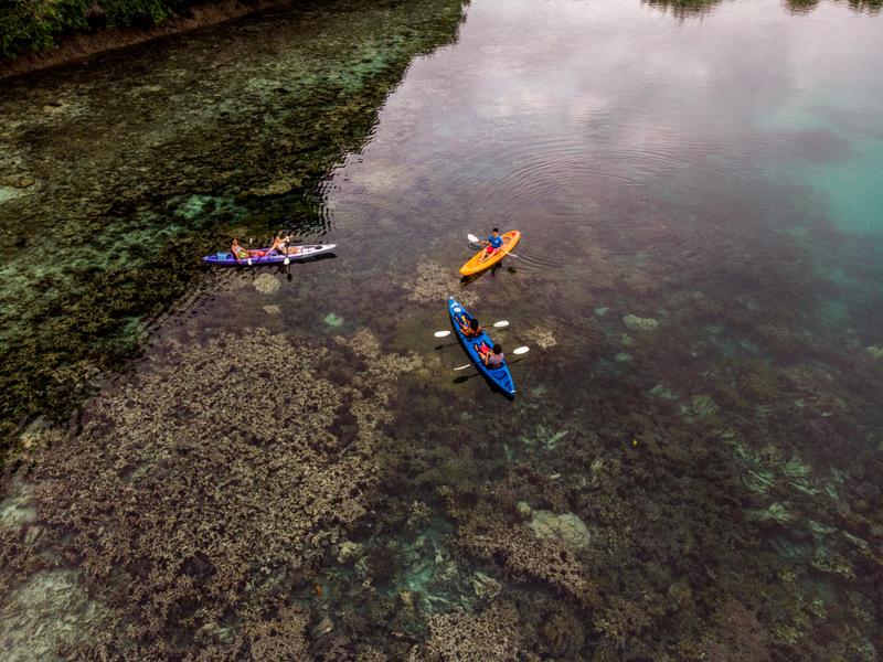 Kayaking in the Rock Islands